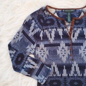 Ralph Lauren Southwestern Thermal Knit Henley